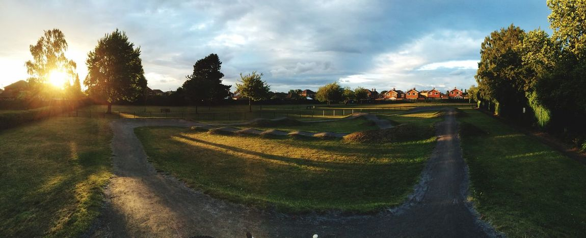 Little Bikepark Panorama IPhoneography Vibrant Sunset
