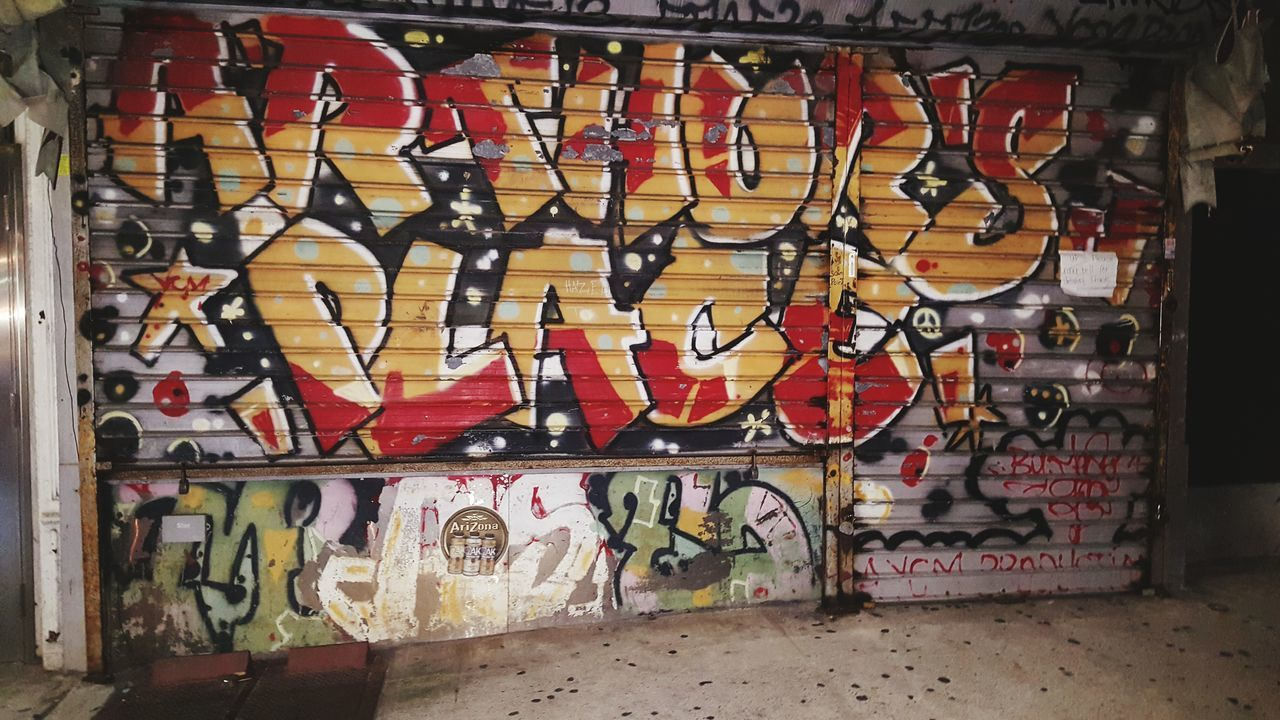 Graffiti Art And Craft Creativity Street Art Spray Paint No People Night Text Outdoors Multi Colored Architecture Close-up Text Outdoors Brooklyn NYC Photography NYC