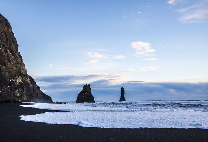 Beach Beauty In Nature Black Sand Beach Horizon Over Water Iceland Landscape Nature No People Sea Travel Destination Vik Water