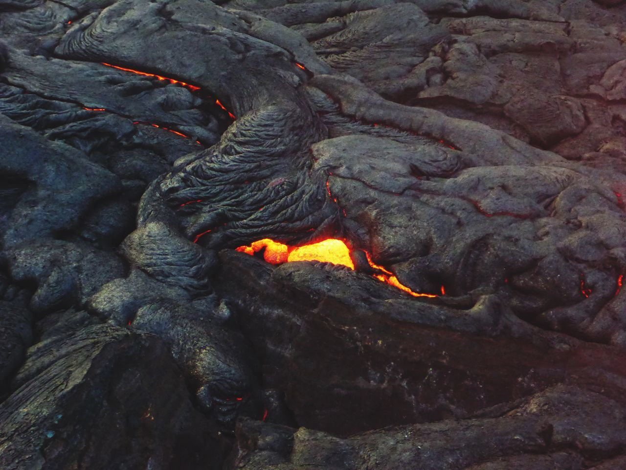 lava, volcano, geology, heat - temperature, no people, outdoors, nature, physical geography, volcanic crater, active volcano, volcanic landscape, erupting, night, molten, power in nature, beauty in nature, close-up