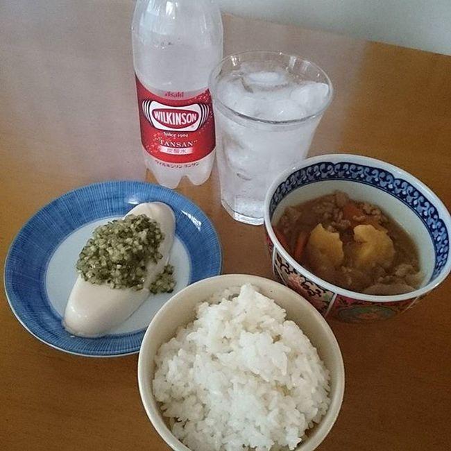 肉ジャガとだしのっけ冷奴で晩飯 休肝日 Japanesefood Tofu 豆腐