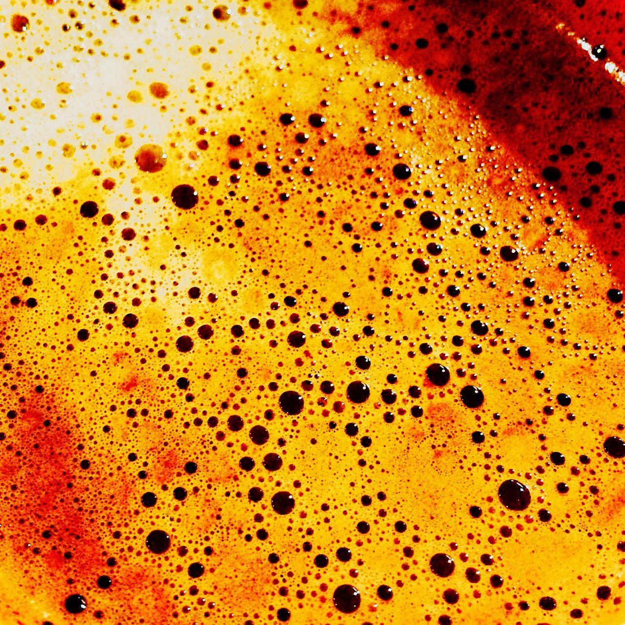 Hot Chocolate Coffee Bubbles Foam Cappuccino Drink Beverage Macro