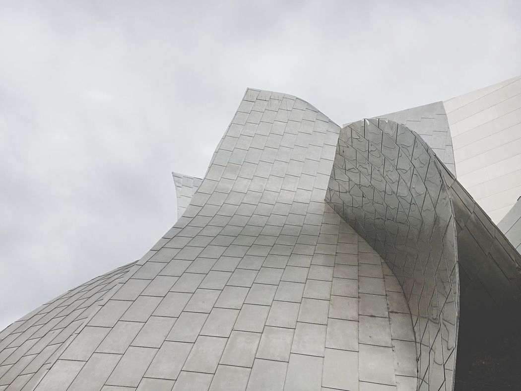 Urban Geometry Disney Music Hall Grey Architecture Built Structure Low Angle View Modern Minimalism Minimalobsession
