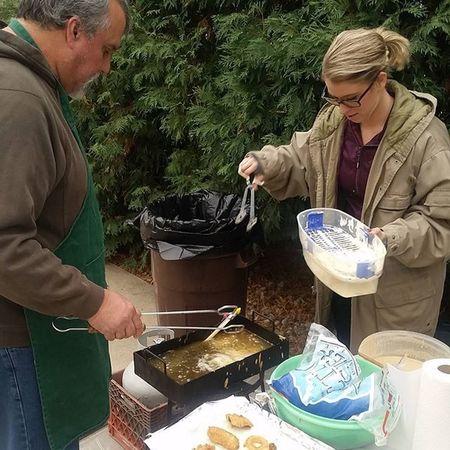 Annual DeArcos fish fry 🐟🍴❤ Bluegill Lovemyfamily Daddysgirl HappySaturday