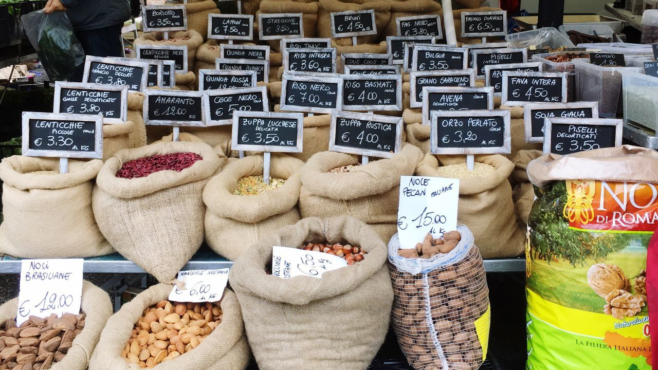 Beautifully Organized Market Marketplace Nuts Dried Food Autumn Organized Tags