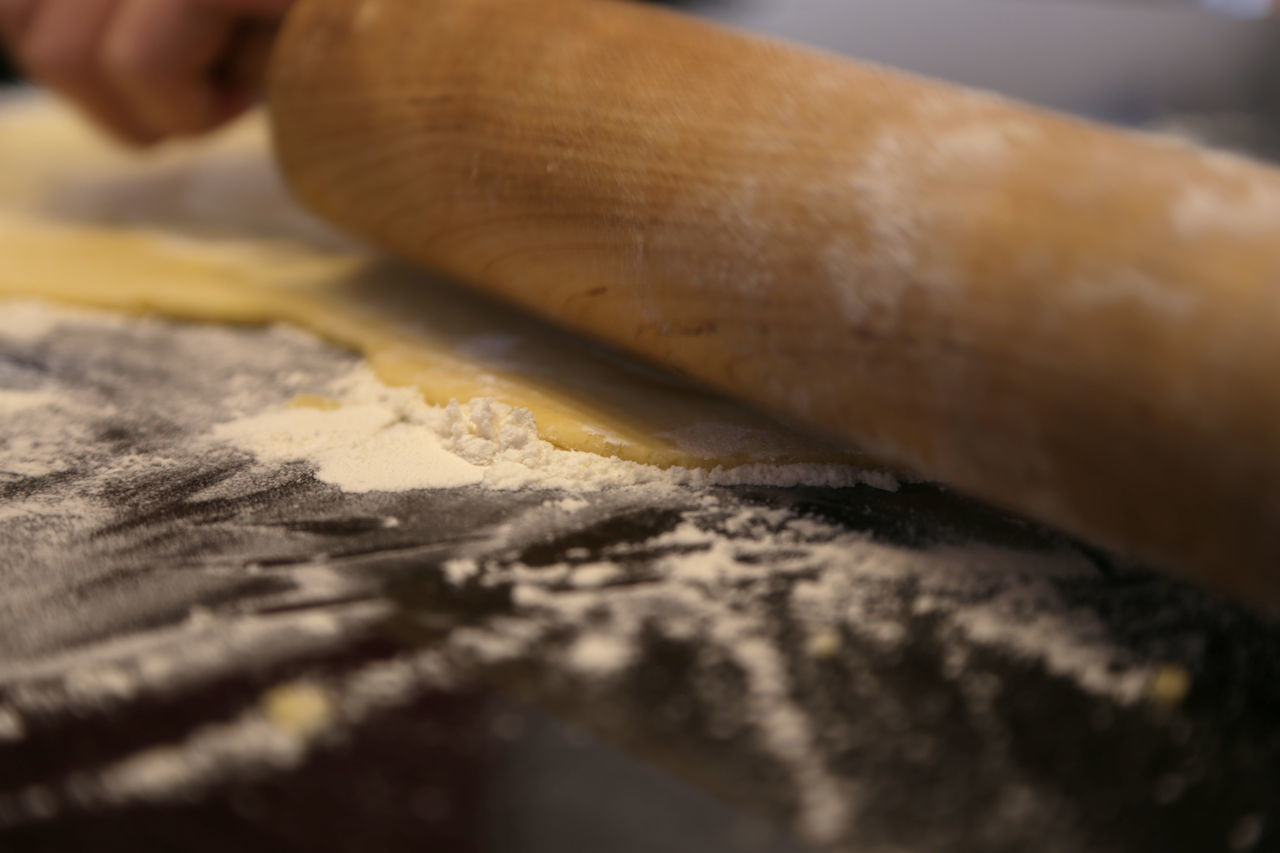 1612, Remove the dough Close-up Day Dough Food Food And Drink Food And Drink Food Photography Foodphotography Human Body Part Human Hand Indoors  One Person People Real People Rollin' In Dough Rolling Table Working