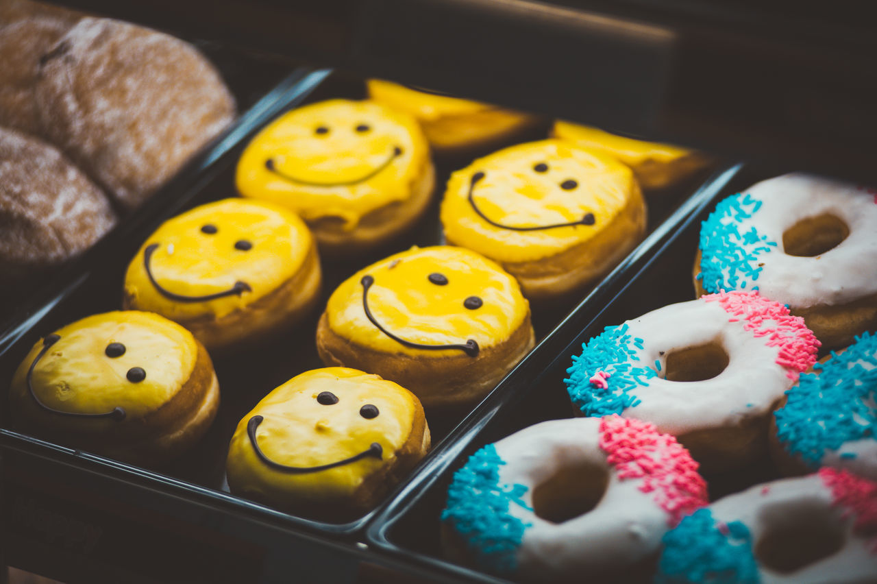 Close-up Day Donuts Food Foodie Indoors  No People Smile Smiley Smiley Face