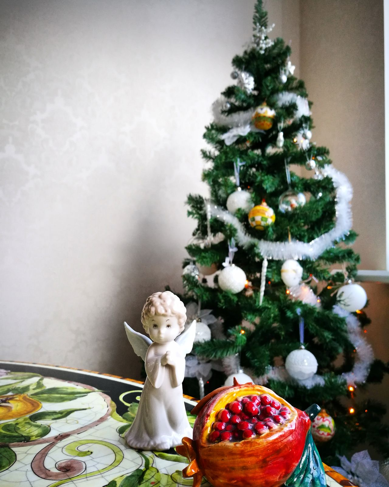 Christmas Tree Christmas Decoration Maioliche Stonetable Ceramics Deruta Angel