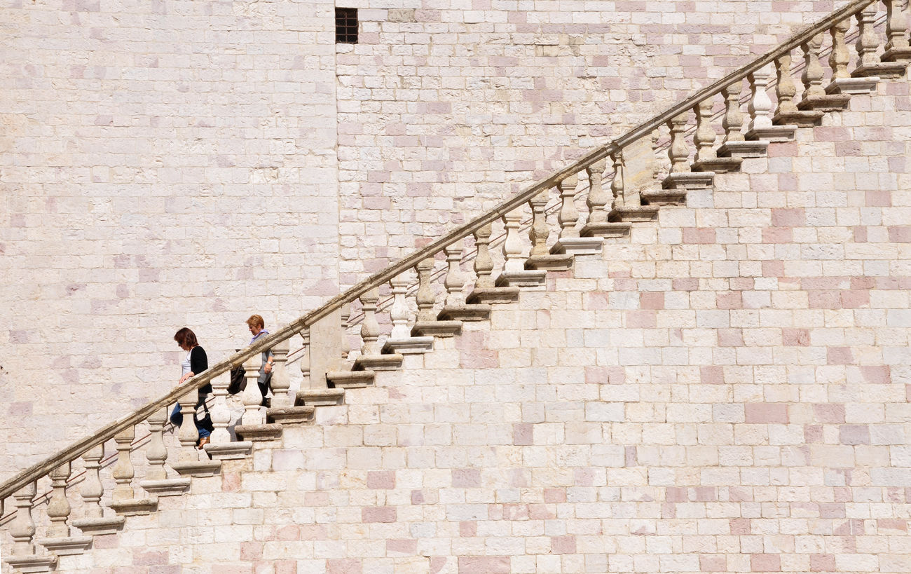 Assisi Urban Geometry Architecture Geometrie Urbane Stairs Pietrarosa Scalinata From My Point Of View