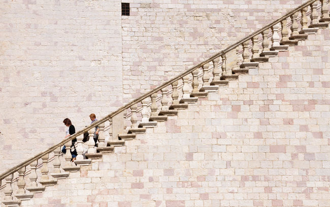 Assisi Urban Geometry Architecture Geometrie Urbane Stairs Pietrarosa Scalinata From My Point Of View