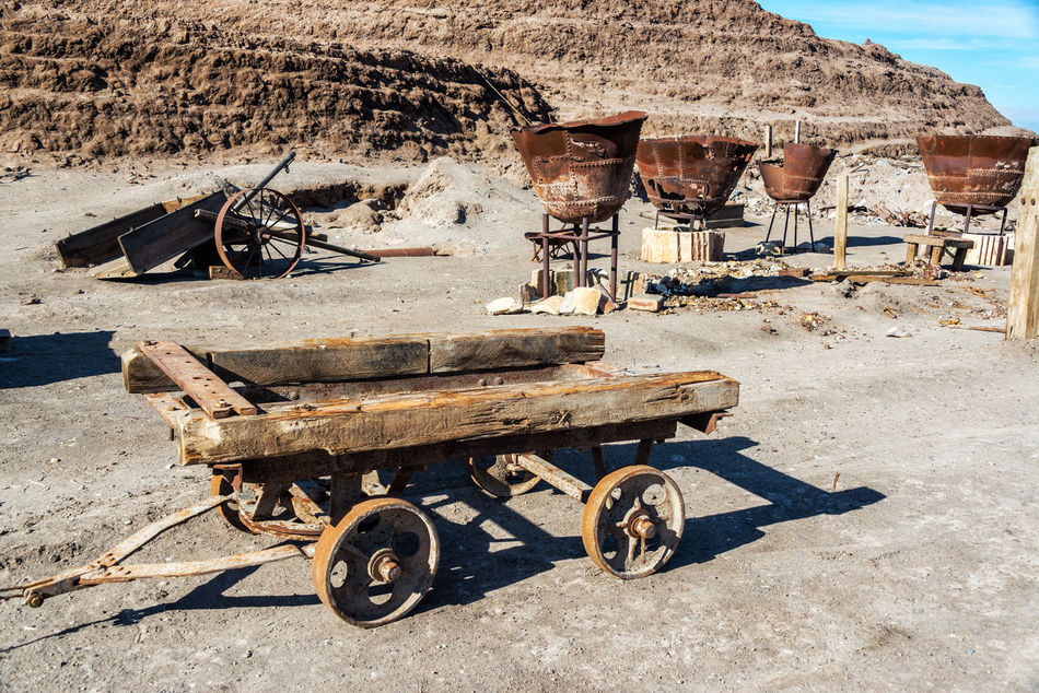 Old abandoned tools for refining saltpeter in the ghost town of Humberstone, Chile Architecture Building Chile Desert Dust Factory Heritage Humberstone Iquique Landscape Laura Nitre Old Saltpeter Saltpetre Sand Santa Santa Laura Site Street Town Unesco Village Works World