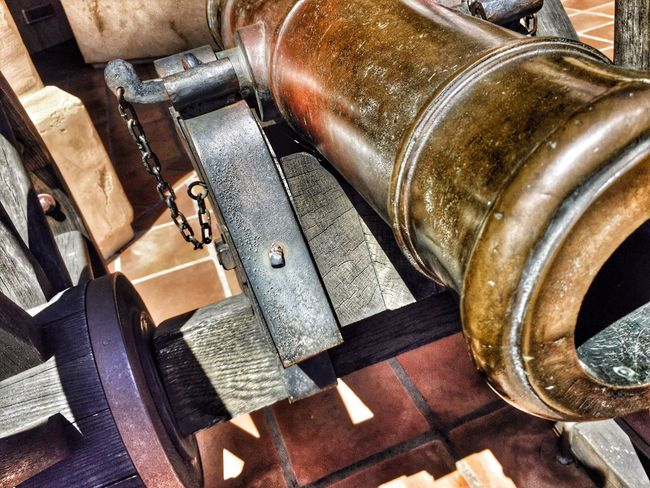 Old cannon at Mormon battalion history site in old town in San Diego
