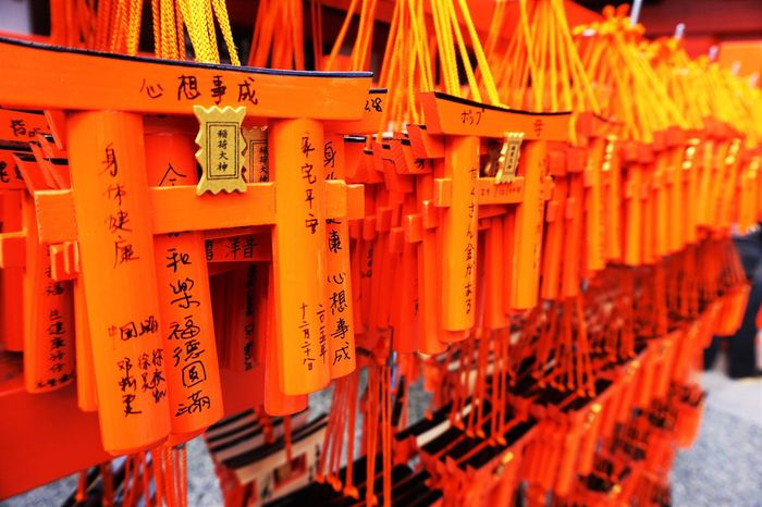 Let's make a wish in Japanese shrine Calm Culture Cultures Fortune Hopeful Hopefull Japan Japan Photography Japanese  Japanese Culture Japanese Shrine Japanese Style Japanese Temple Luck Make A Wish Orange Color Silence Temple TORII Wishes Wishing Zen
