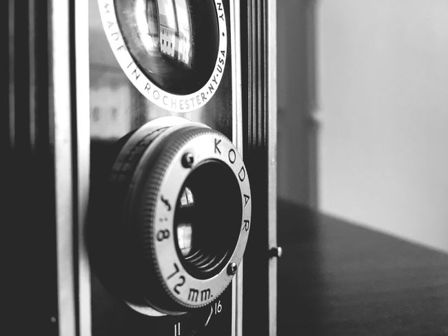 Vintage Camera Close-up Indoors  Technology Focus On Foreground No People Old-fashioned Retro Styled Day Thermostat