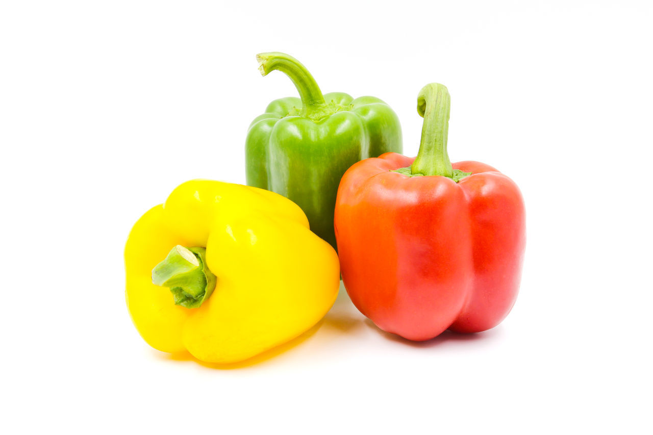 Bell Pepper Close-up Day Food Food And Drink Freshness Healthy Eating No People Red Red Bell Pepper Studio Shot Vegetable White Background