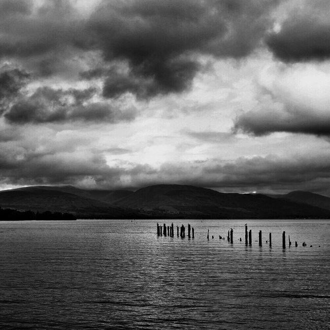 At LochLomond near Glasgow  Cloud - Sky Sky Waterfront Rippled Scenics Blackandwhite X100t Fujifilm