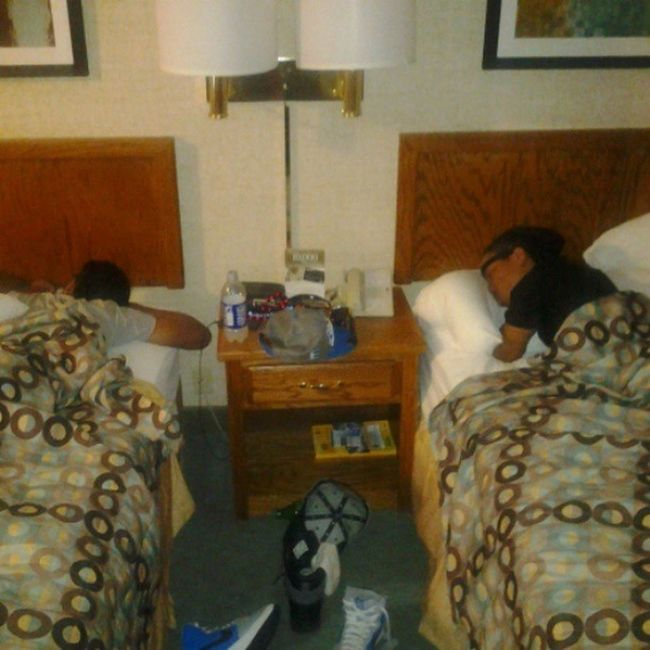 They been sleep since we got off the stage. Lol. I'm the only 1 up & at. They gone be pissed for this DTM IllSleepWhenImDead