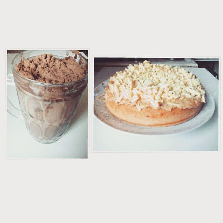 My Homemade no bake yema cake & milo dinosaur. Haha! Ricecookercake Tryinghard Feelingbaker damicheese🙎