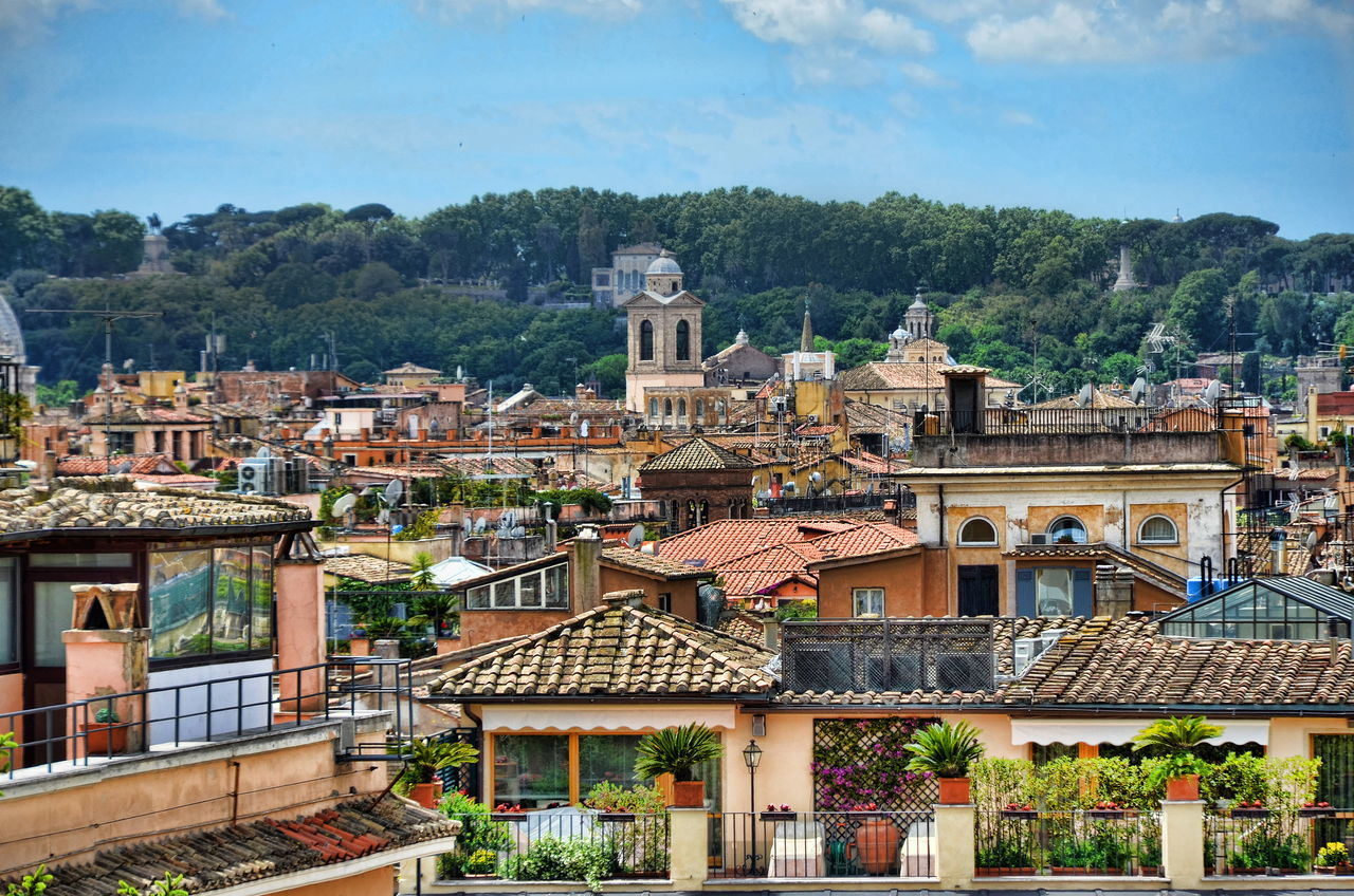 Above The Roofs Architecture Building Exterior Built Structure City Cloud Cloud - Sky Day Outdoors Residential Building Residential District Residential Structure Roma Rome Italy Roof Sky Tourism Town TOWNSCAPE Travel Destinations