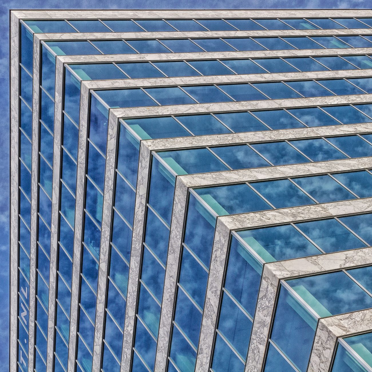 Marble Sequence Architecture Clouds Window Urban Geometry Blue Marble Lookingup Netherlands Reflection