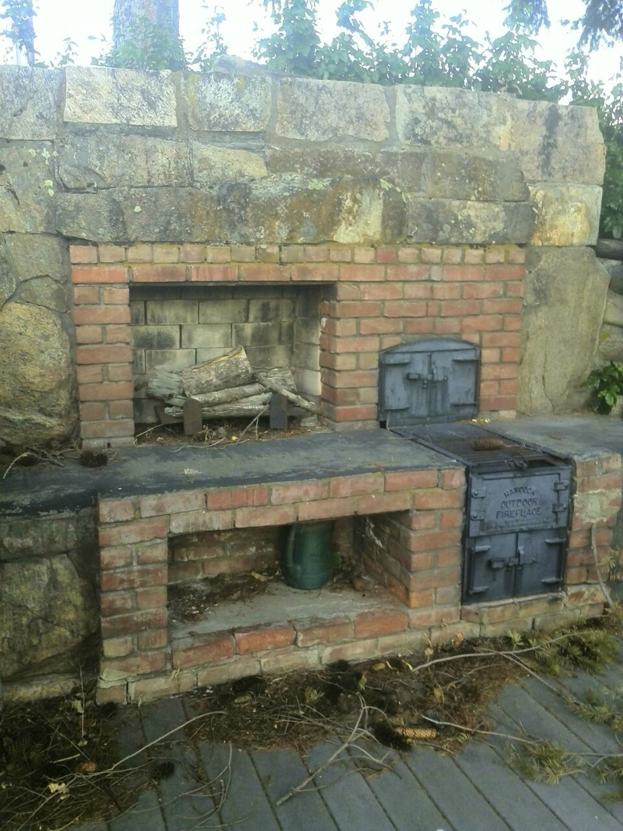 Just Interesting Check This Out Outdoor Kitchen Outdoor Life Outdoor Photography Stone Wall Brick Work Masonry Work Stove Omak, Wa No People Old Abandoned Places Outdoors Daytime Masonry
