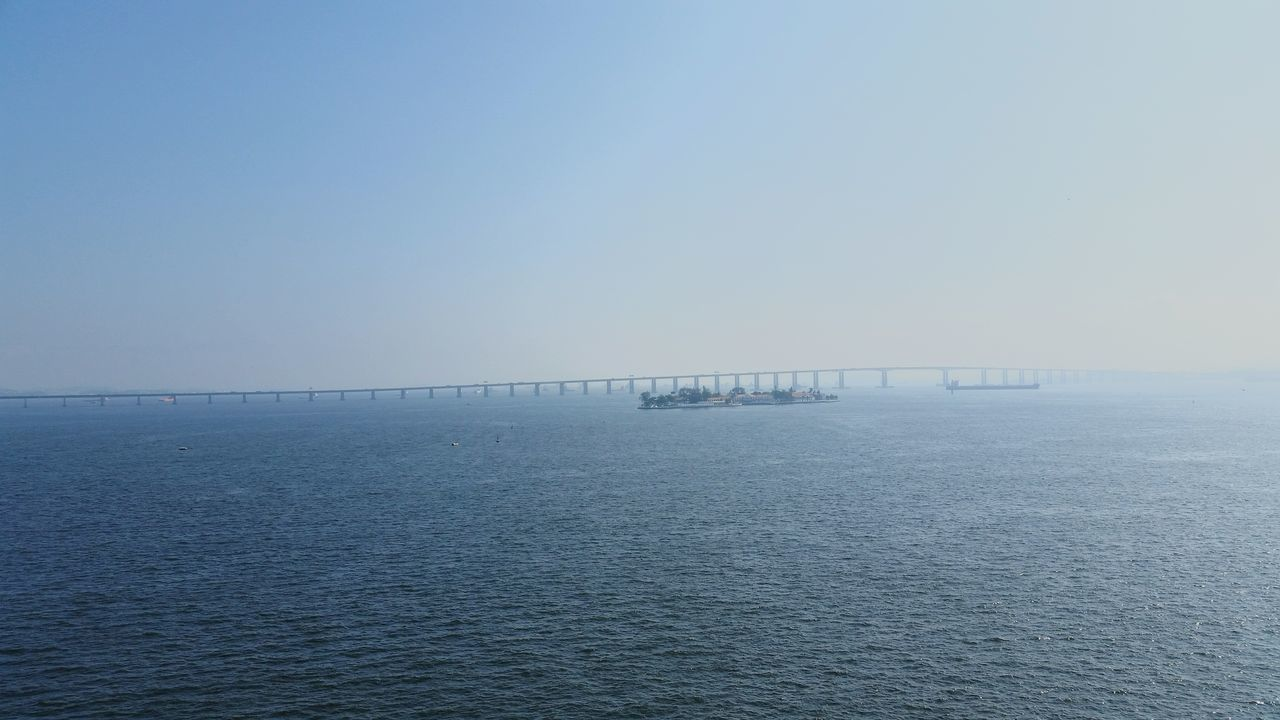 sea, water, waterfront, copy space, nature, tranquil scene, tranquility, beauty in nature, scenics, outdoors, clear sky, no people, day, horizon over water, blue, sky
