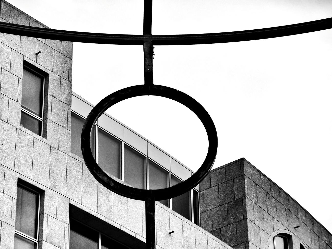 Blackandwhite Graphic High Contrast Urban Geometry Cross