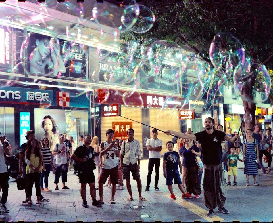 Bubble show Arts Magic Wow!! Awesome Performance Hong Kong Cultural Centre 香港文化中心 Hong Kong Night Scene Hong Kong Victoria Harbour Hong Kong At Night