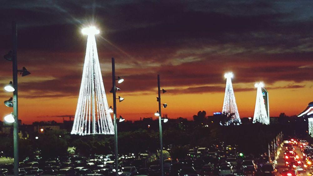 Happy new years #Christmas #time #Night #colours #happy #orange  Night Illuminated Sky Cityscape
