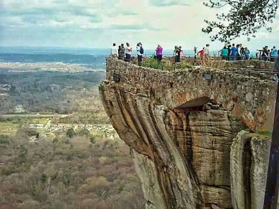 Cliff Cliffside Cliff Top People Standing Street Photography People Watching Taking Pictures Photo Taking Mountain Travel Destinations Geology Beauty In Nature Stone Material Rocky Nature_collection Landscape Landscapes Landscape Photography Sky Dangerous Dangerous Places Dont Jump Dont Fall