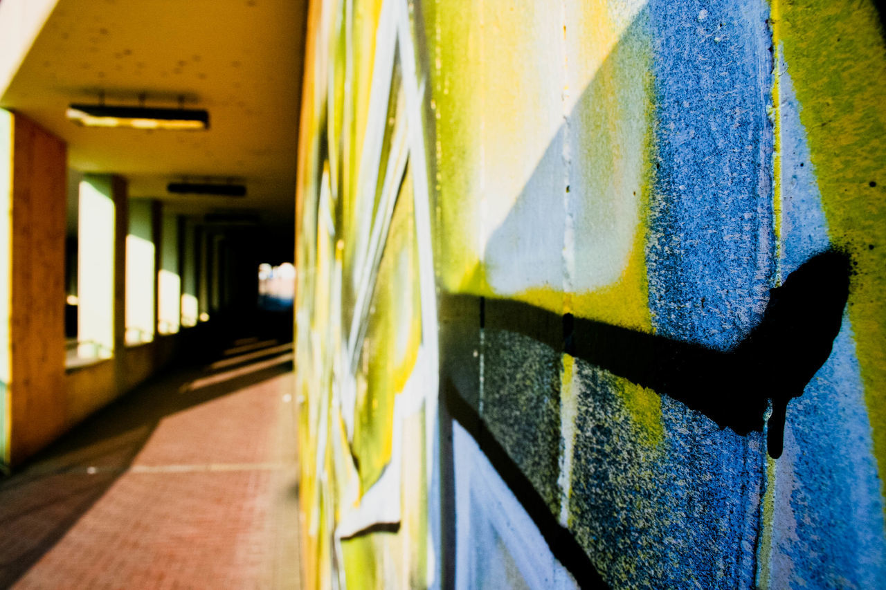 architecture, built structure, no people, yellow, day, indoors, building exterior, close-up