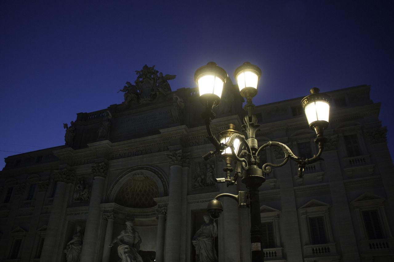 street lamp in Rome Architecture Building Exterior Illuminated Lamp Night Scenics Sky Street Street Light Travel