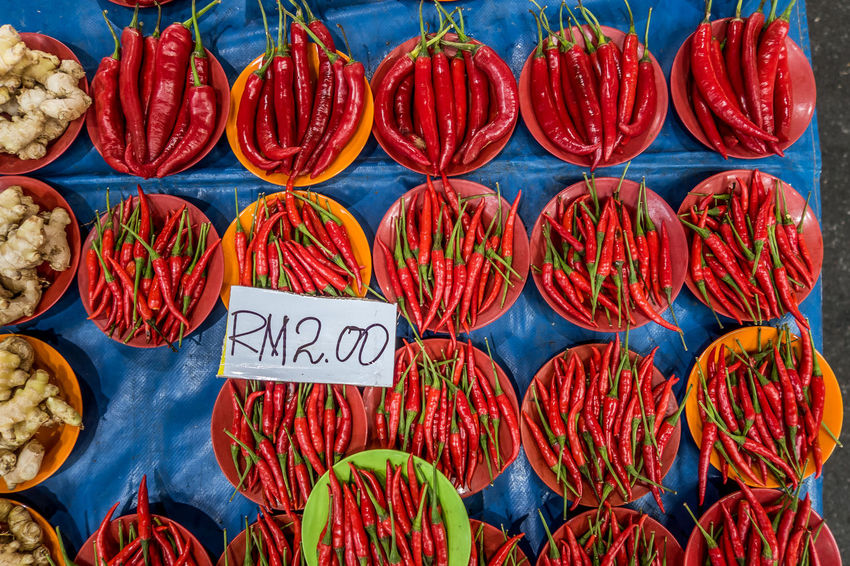 Canon G7X Chillies Colour Of Life Kuching Malaysia Red Tropical Plants Weekend Market