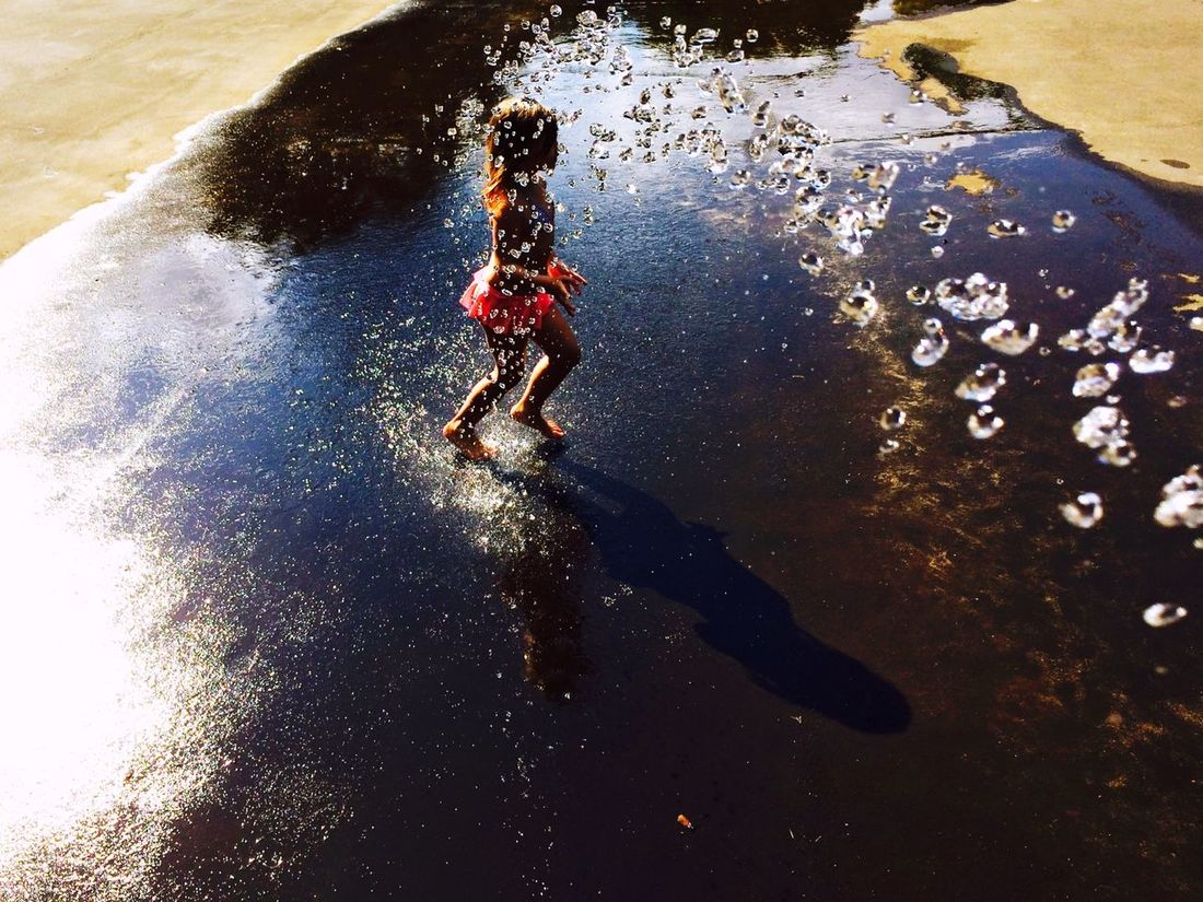 Escaping the heat Free Willy Sun Colors Colorful People Watching Open Edit Kids Shadowplay Water Nature