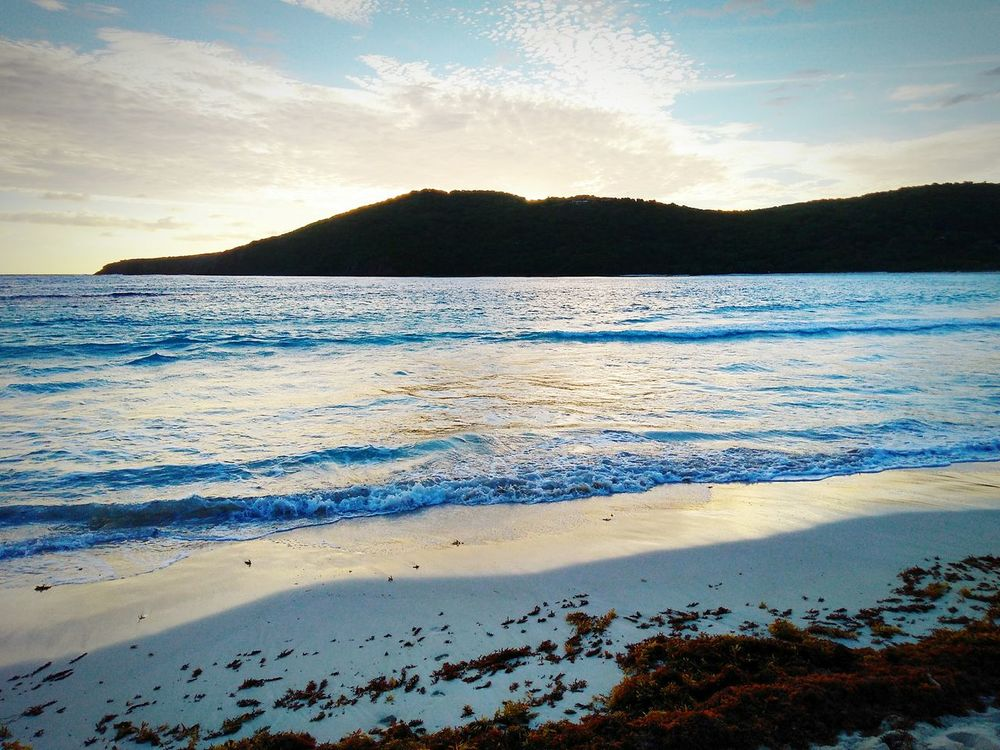 Beach Sea Landscape Water Sunset Nature Horizon Over Water Beauty In Nature Scenics Cloud - Sky Sky Day Tranquility Outdoors Culebra Puerto Rico Flamenco