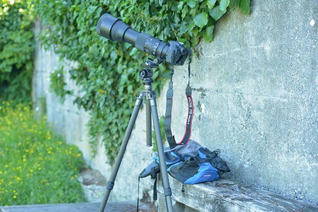 Camera Canon EOS 7D Mark II Green Outdoors Pointe à La Bise Tripod