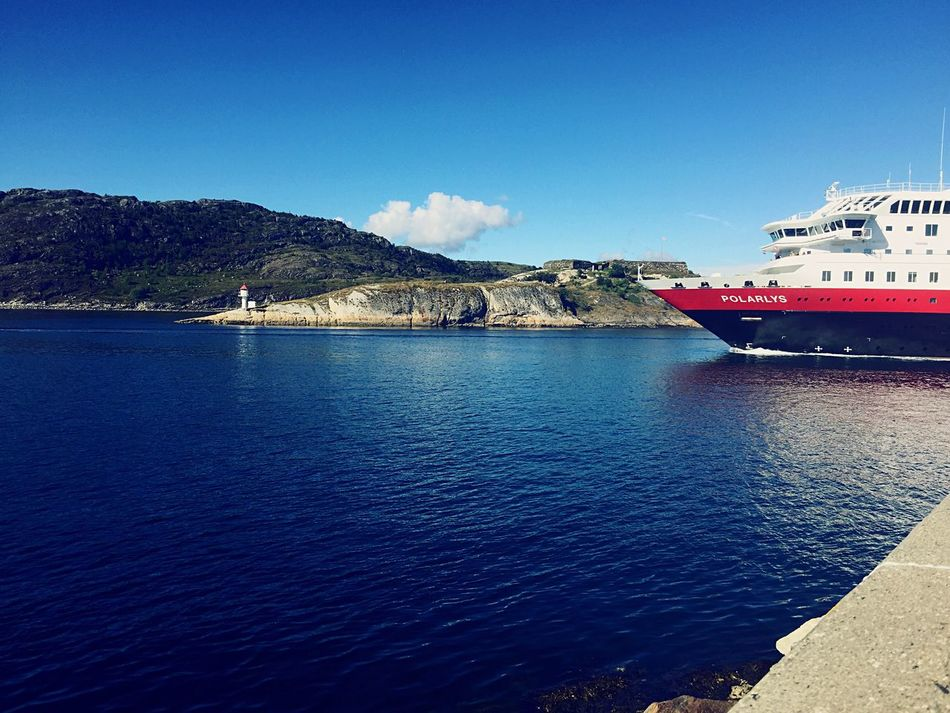Hurtigruten leaving Bodø on its way up north. Northern Norway