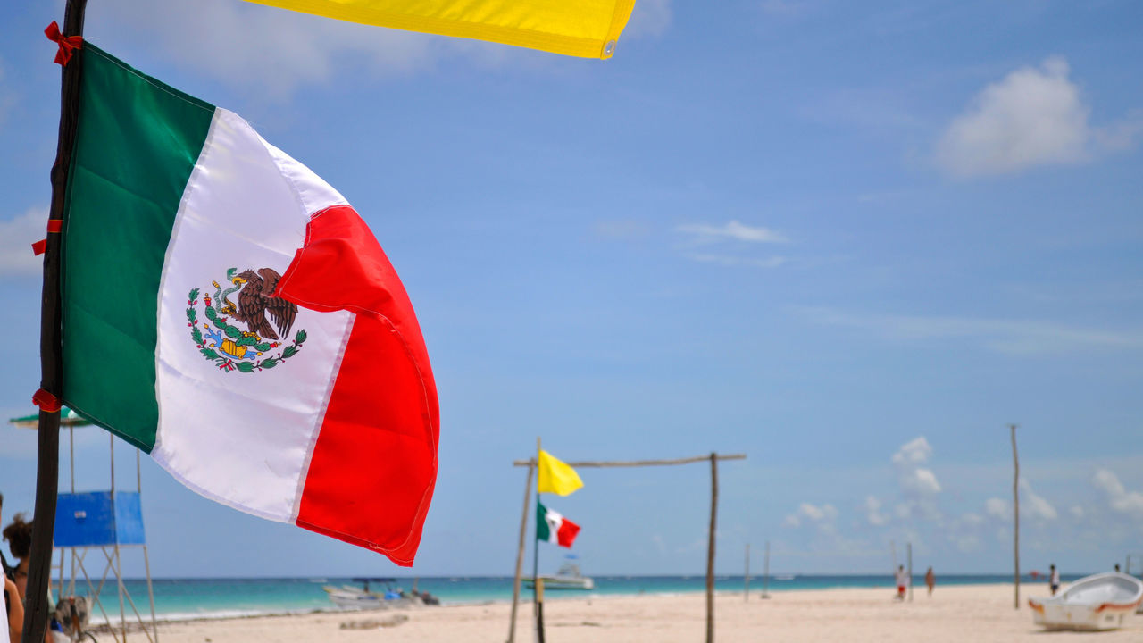 Beautiful stock photos of mexican flag, Animal Representation, Beach, Day, Flag