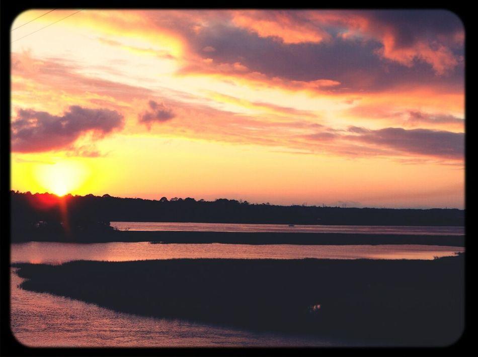 Beautiful Sunset Nature River View