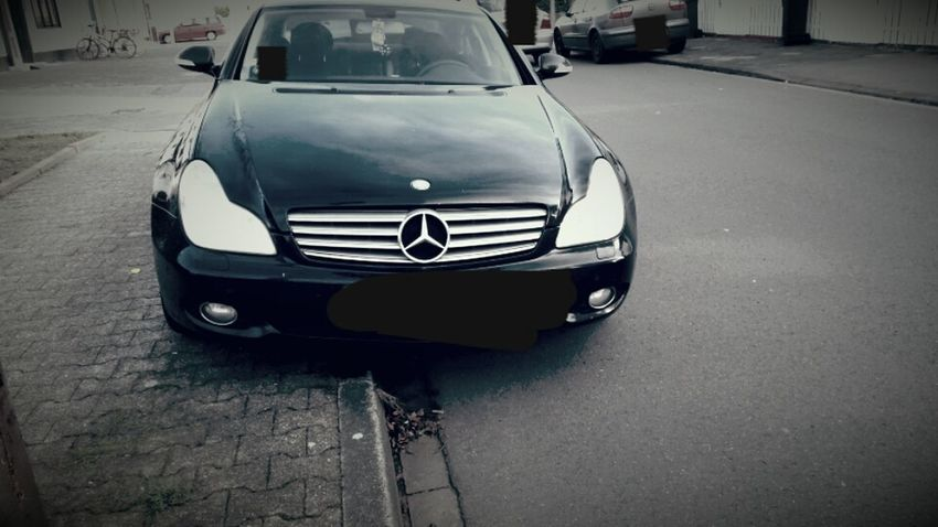 Mercedes Mercedes-Benz Mercedes Star Mercedesbenz Cls350 CLS Blackandwhite Black Car