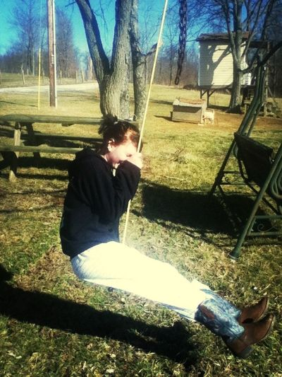Haha Poor Haley Thought The Swing Broke