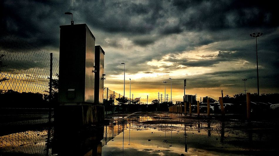 EyeEmNewHere Sunset Johor Bahru Malaysia Silhouette Sky Collection Reflection_collection Outdoors Water Reflections Photooftheday