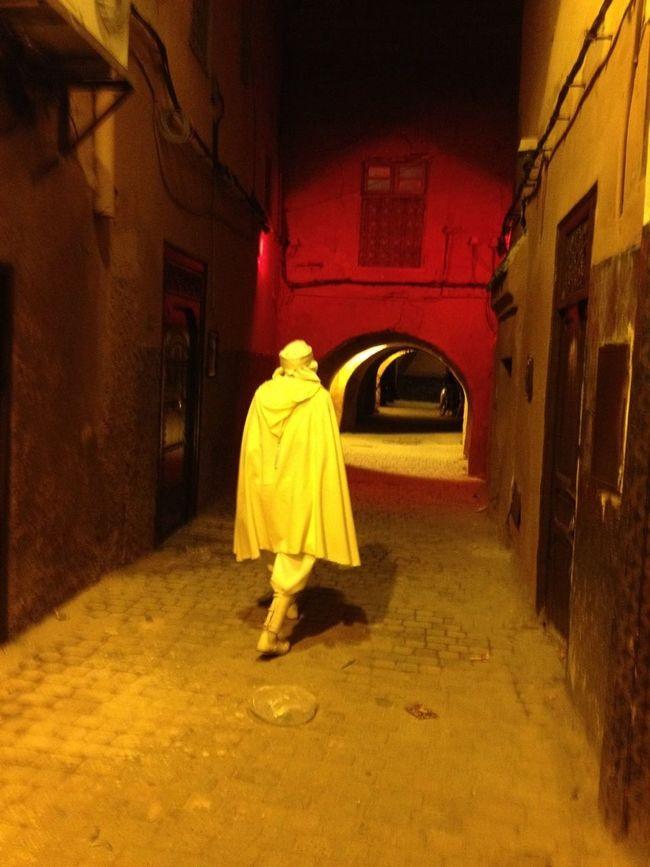 Medina de Marrakech. Custodiados por un guardián.