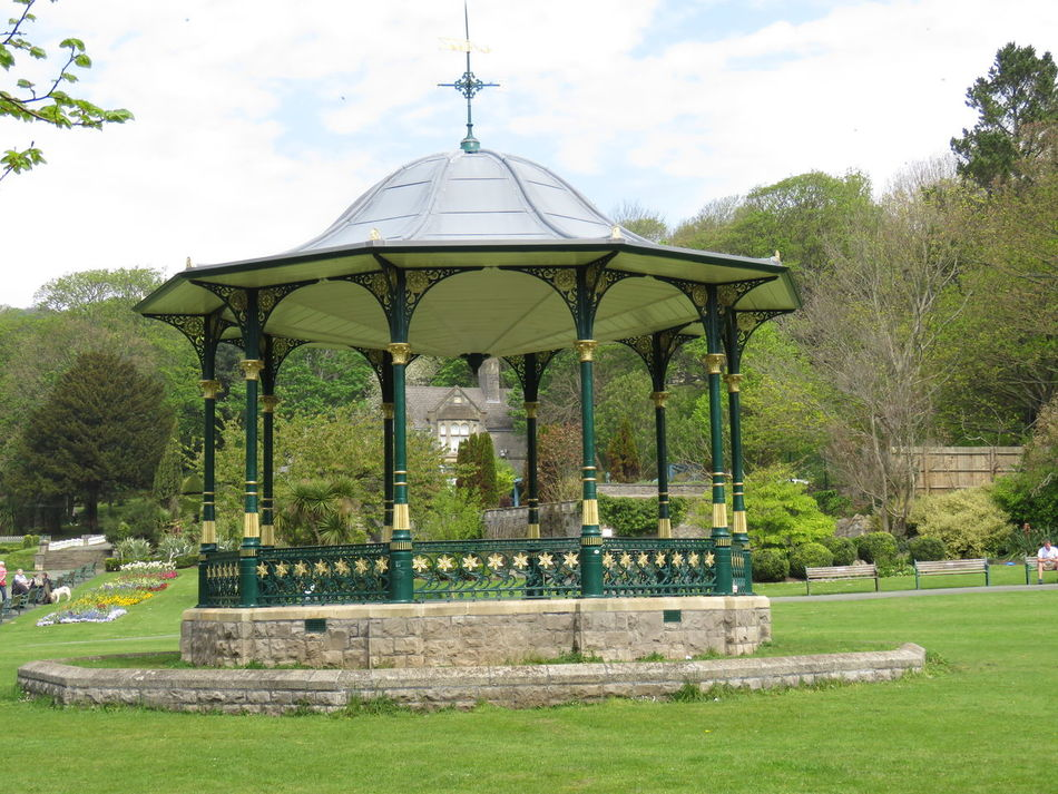 Taking Photos Bandstand Colourful Paths Railings Local Park Bushes And Trees Warm Summer Day Green Lawns Benches & Branches Colourful Flowers Country Life Weston-super-mare Somerset England