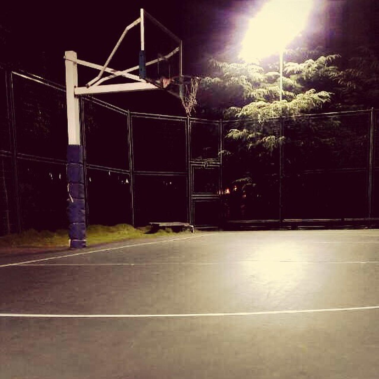 illuminated, night, no people, outdoors, court, sky