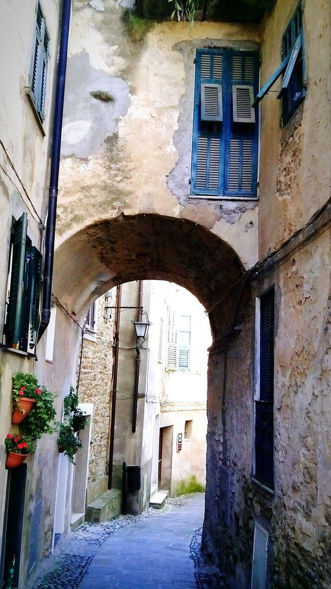 Perinaldo Italian Riviera Old Village Riviera Dei Fiori Liguria - Riviera Di Ponente Ancient Village Borgo Antico Perinaldo Val Verbone Carrugio
