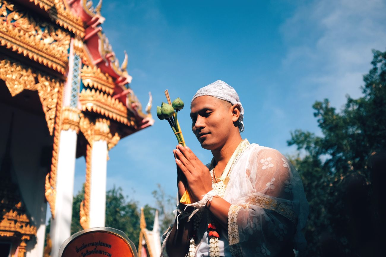 Once in a lifetime a man 🇹🇭 First Eyeem Photo Religion Thailand Culture Filmlooks Fujifilm_xseries Fujifilm X100T Priest Vscocam