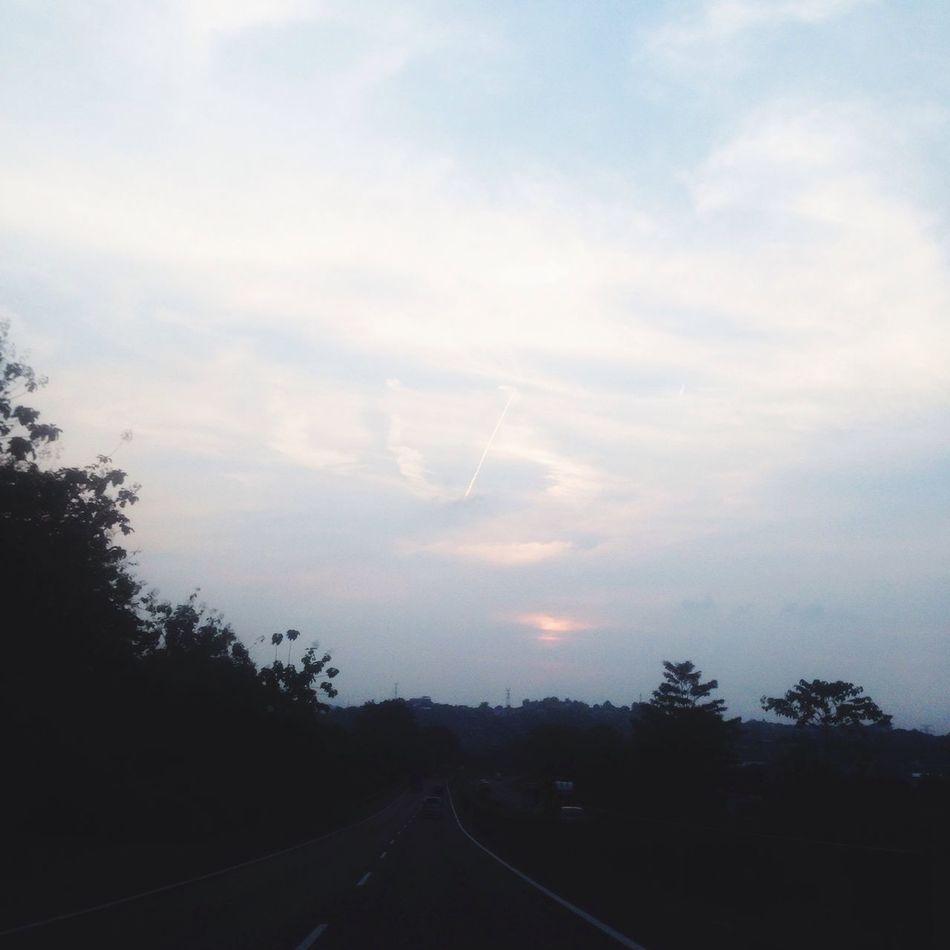 Sky Road Cloud - Sky IPhoneography INDONESIA Jawatengah