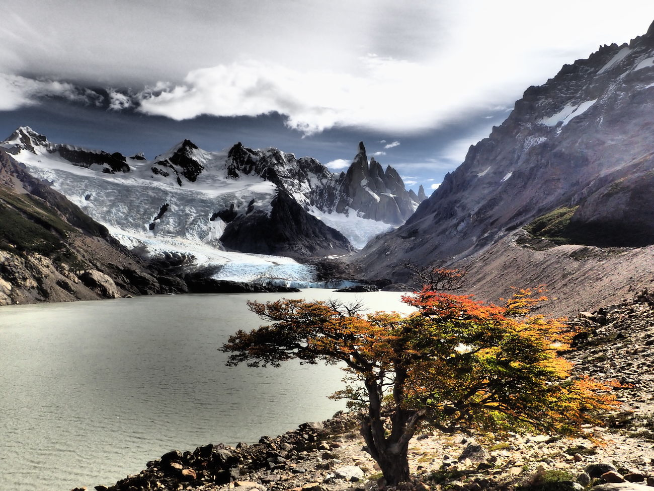Laguna torre with Cerro Torre in the background