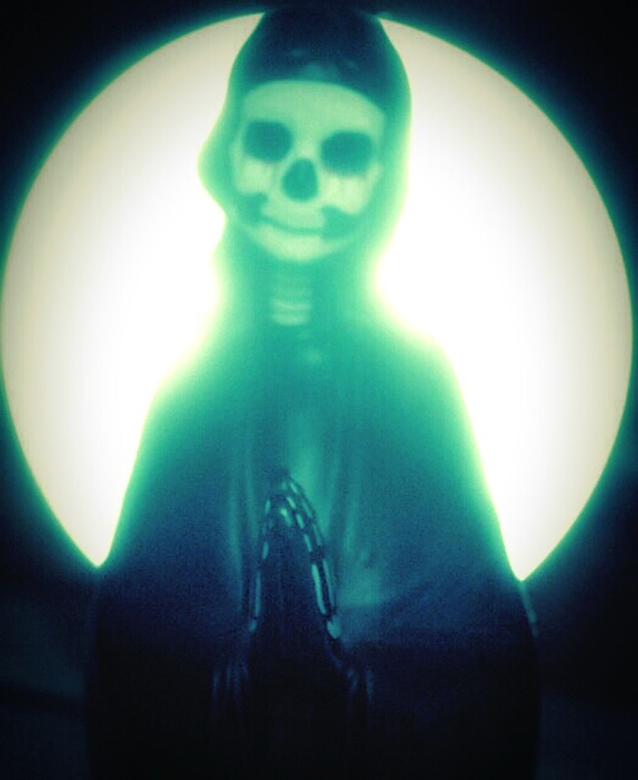 """""""Our Lady of Perpetual Dramatically Lit Moments"""" (2015) Oddities Odd But Beautiful Odd Dark Art Just For Fun Silly Shits And Gigs Skeleton Dead Things Fake Saints fakes Anti-saint"""